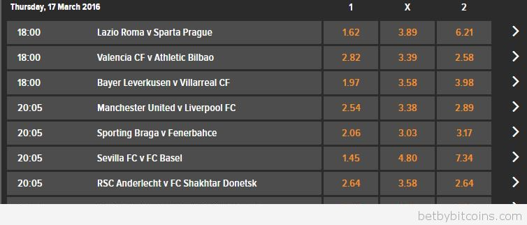 Betting tips Europa League 16.03.2016