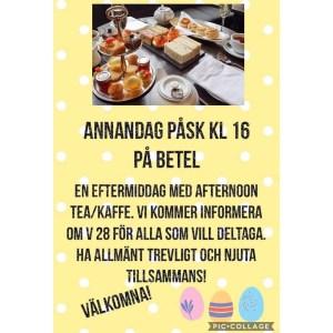 Afternoon tea - Information inför Familjeveckan