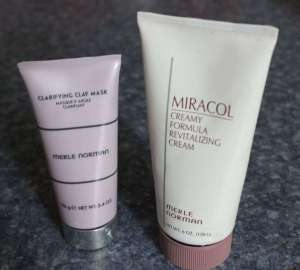 Merle Norman's Clarifying Clay Mask vs Merle Norman's Miracol Creamy Revitalizing Cream Mask