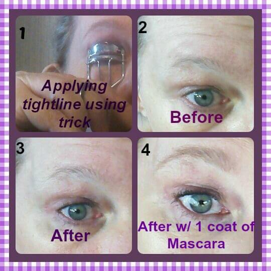 eyelash curler before and after. eyelash curler tightline trick before and after pictures a
