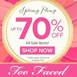 Too Faced Spring Fling Sale