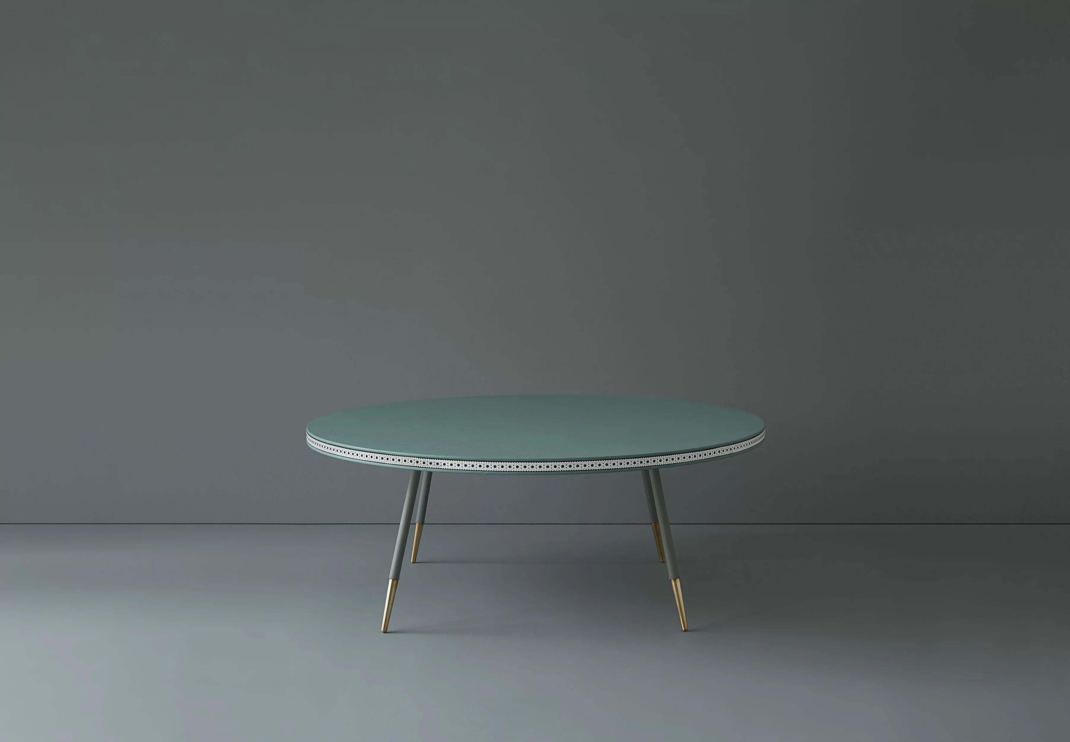 brogue leather coffee table