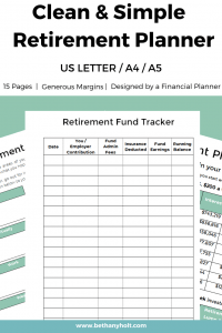 Retirement Planner Retirement Budget Financial Planner Retirement Printable 01