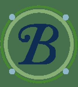 Capital Cursive B inside a circle