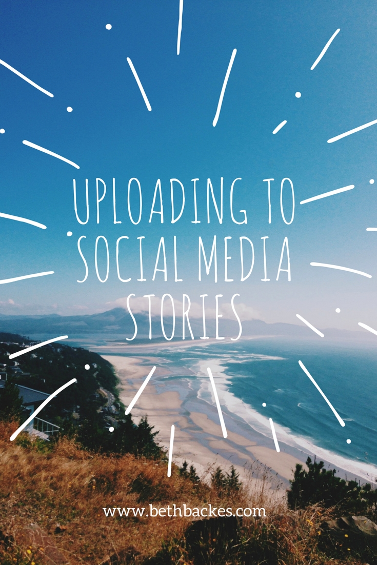 Beginner tasks: take control of your content and learn to Upload to social media stories.