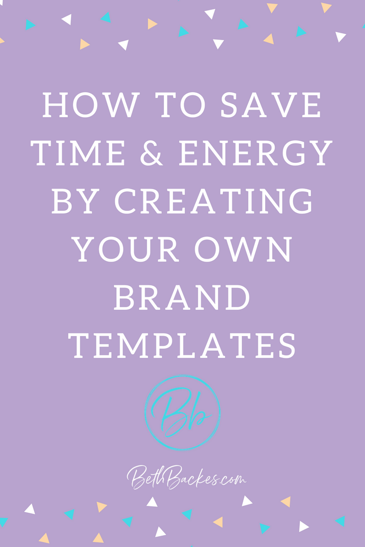 Pro tip: Create your own colorful post templates to save time & energy in your blog and social media! #blogging #socialmedia #blogginghacks #template