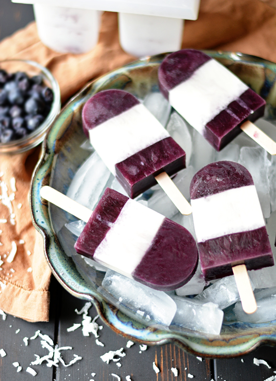 Blueberry Coconut Popsicles! bethcakes.com