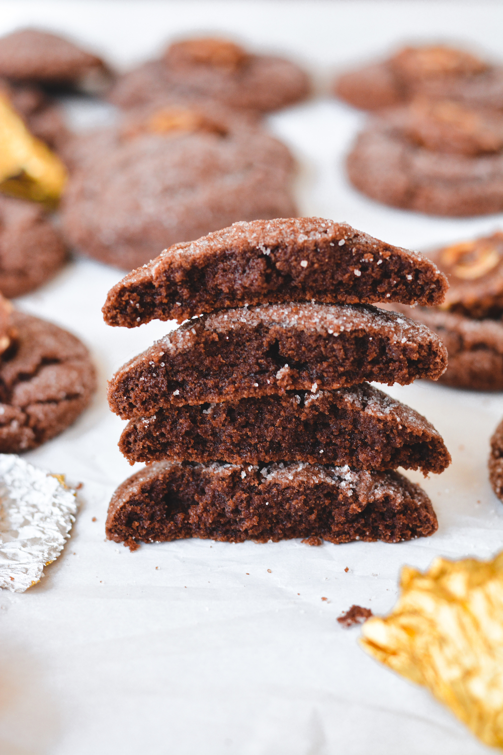 chocolate hazelnut cookies - bethcakes.com