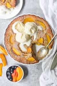 peach pecan chess cake - bethcakes.com