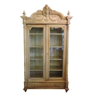 White Antique Bookcase