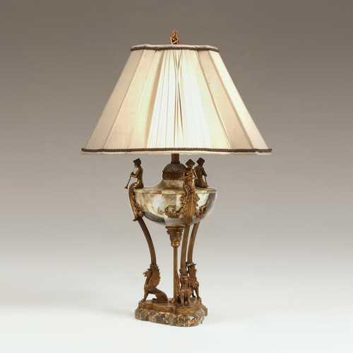 Lipshell Inlaid Neoclassic Urn Lamp
