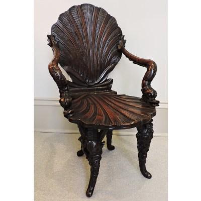 antique Italian Grotto Chair