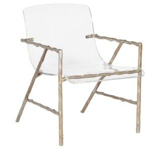 Metal and Acrylic Chair