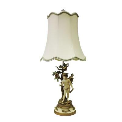 Antique Musical Cherub Lamp