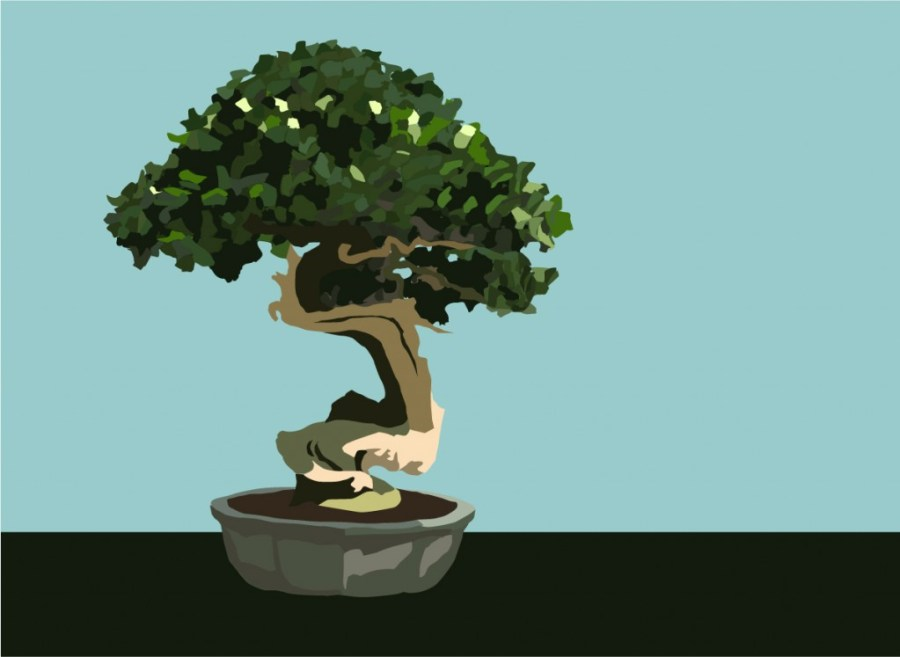 Vectorized Bonsai Drawing