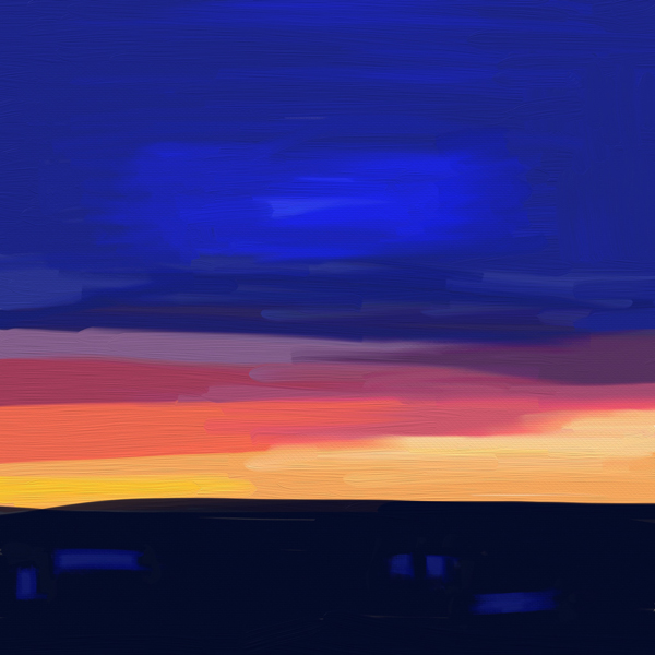 Sunset Painted with Artrage