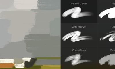 Brushes in the Procreate iPad Art app
