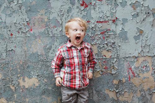 Little Boy Yelling