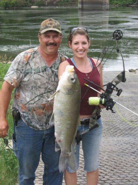 A 25-pound buffalo carp!