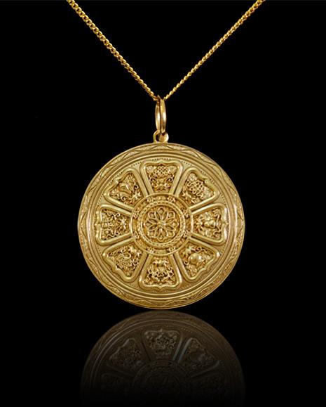 Circle of 8 Buddha Pendant