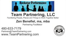 team partnering facilitation services