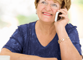 senior woman on cell phone