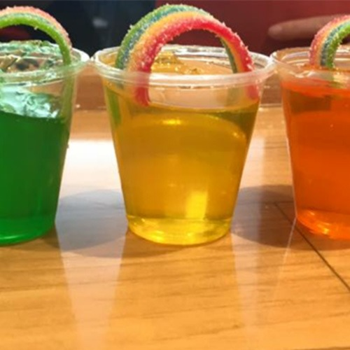 Bethel CT Pride Co-Marketing Items - Rainbow Shots from Note Kitchen