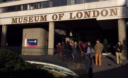 Class in front of the Museum of London