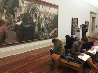 Studying WWI art in the Tate Britain