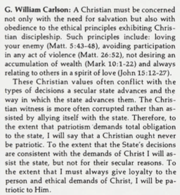 GW on Christianity and patriotism, 1971