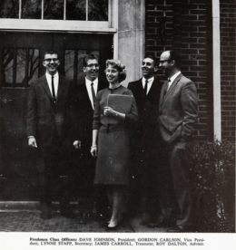 GW in 1961-62: freshman class vice president