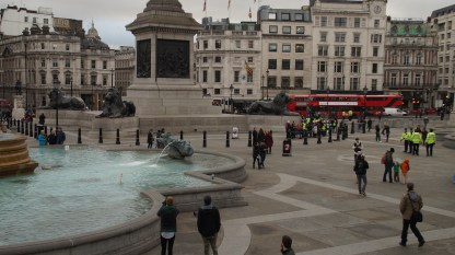 Trafalgar Square was one of our first stops.