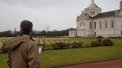 The French military cemetery near Ablain-St-Nazaire includes a basilica known at Notre Dame de Lorette