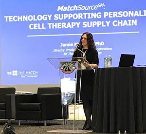 Jamie Margolis, Ph.D., presenting at the Cryoport workshop.