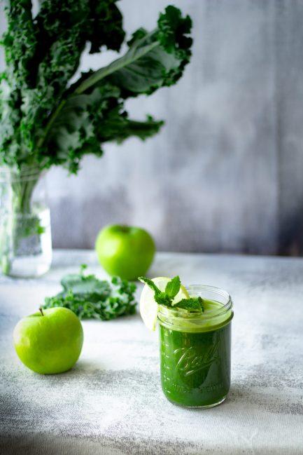 I often do green juice with apple.