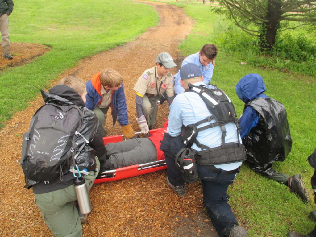 Scouts Earn Search Amp Rescue Merit Badge