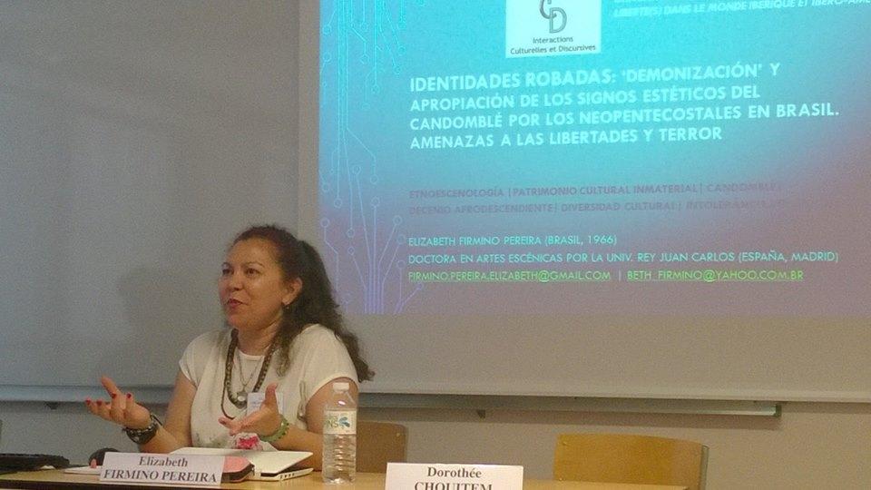 Elizabeth Firmino, Presentación de trabajo, Congreso SHF, Tours, Francia, 2017.