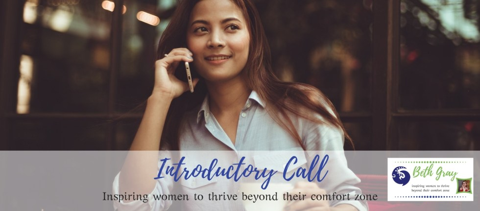 introductory call, Beth Gray, coach, coaching packages, phone call, Zoom, Skype, online, purpose, expectations, value, fit