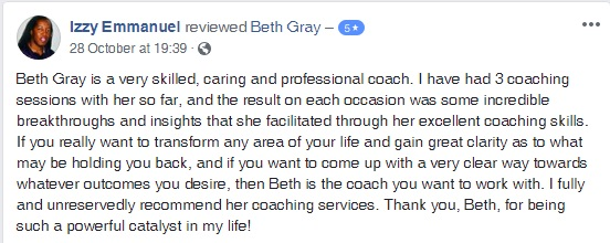customer review, coaching sessions, breakthrough sessions