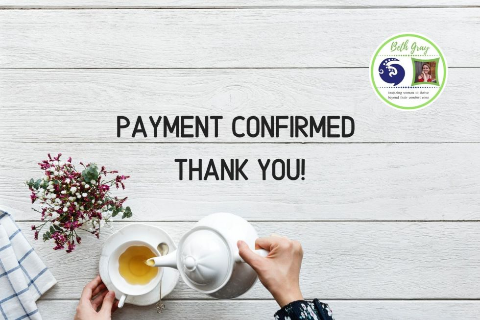 Beth Gray, Payment confirmed, successful, inner life coaching