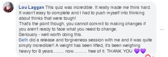 client reviews, ho'oponopono, forgiveness, lift, weight, taking stock of your life, life balance, commit to changes