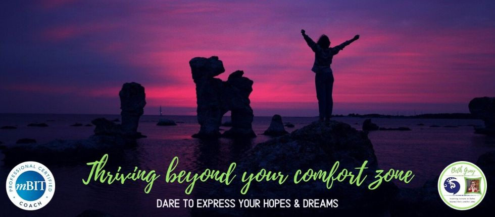 thriving, thrive, beyond, comfort zone., dare, seen, heard, finding your voice, passion, purpose, passions, coaching, coach, release, let go, forgive, goals, dreams