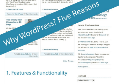 Why WordPress? Five Reasons