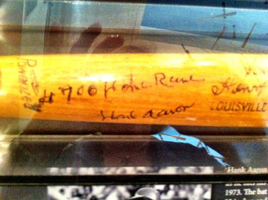 Hank Aaron's 700th home run bat