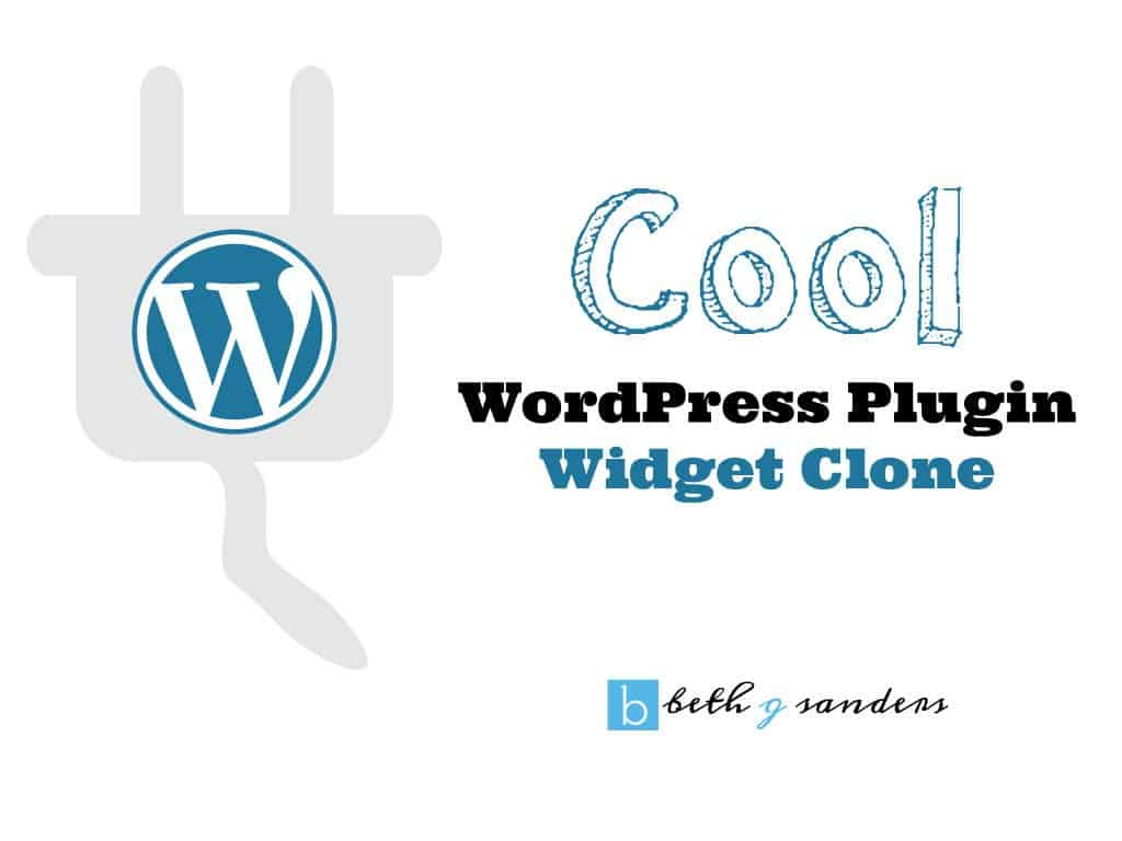Cool WordPress plugin: Widget Clone