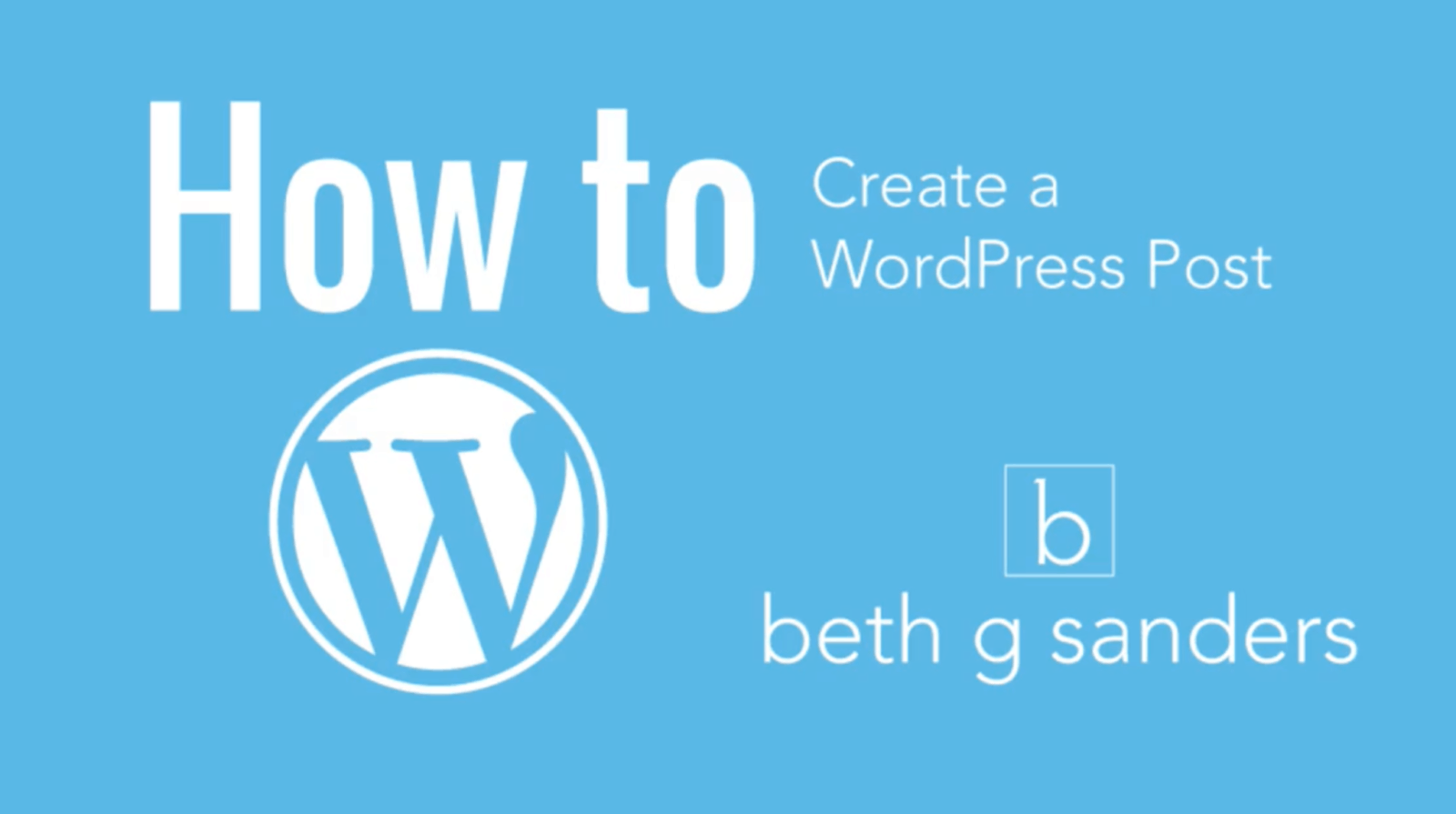 create a wordpress post