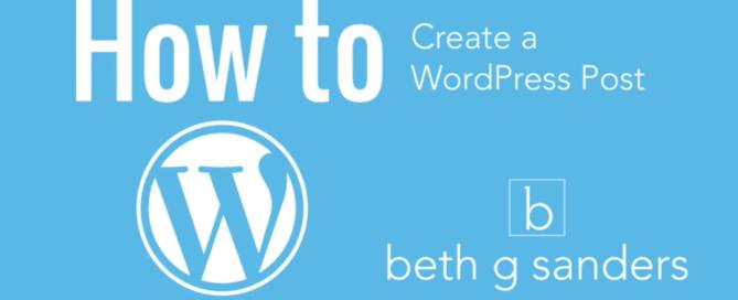 create a wordpress post