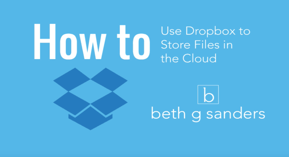 How to Store Files in the Cloud With Dropbox