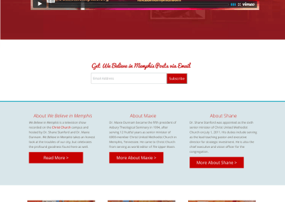 We Believe in Memphis Website (Redesign)
