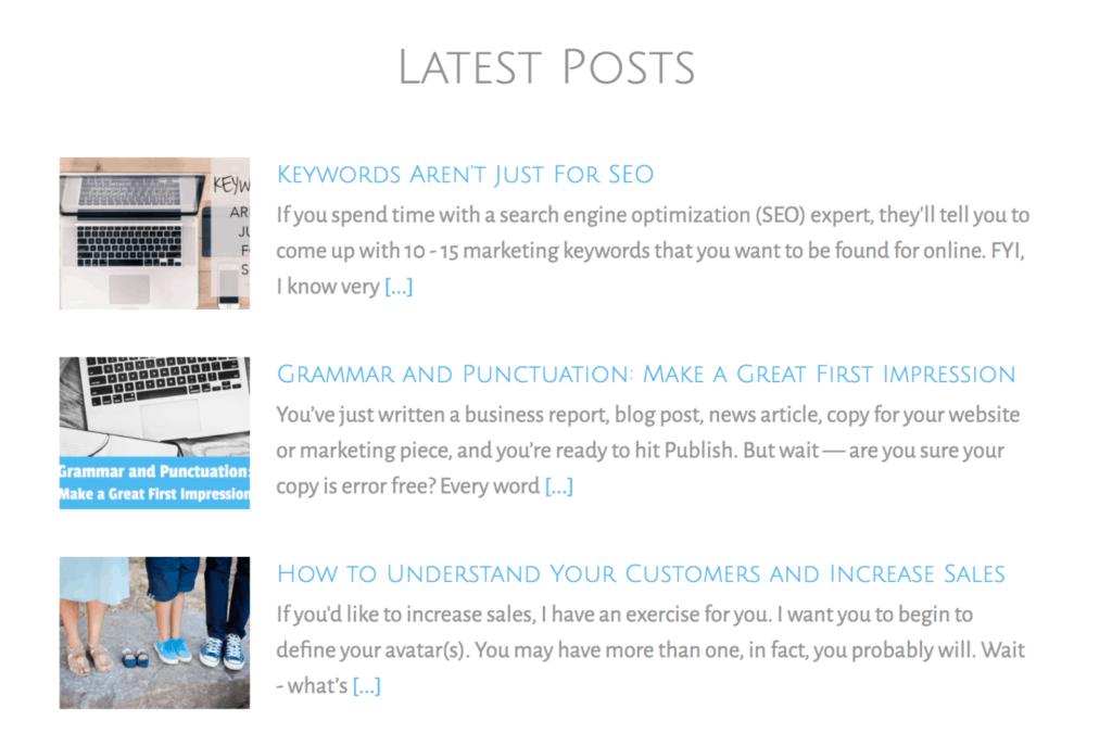 online marketing landing page